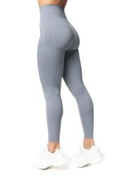 Bezszwowe Legginsy Double Push Up Revolution. Light Grey