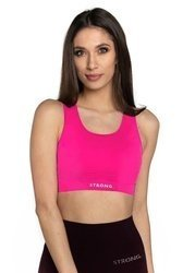 STRONG. - BEZSZWOWY BRA TOP (NEON PINK)