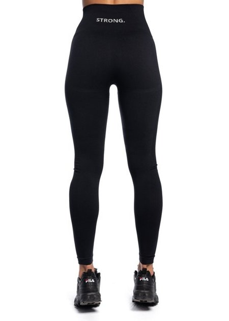 "STRONG. - LEGGINSY BEZSZWOWE ""24H"" BLACK (PUSH UP)"