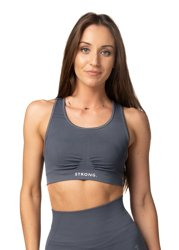 Strong. Bra top. Graphite.